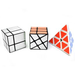 puzzle teasers Australia - Speed Cube Set Pyramid Mirror Wheel Speed Cube Bundle, Set of 3 Magic Cube Puzzle Brain Teaser Educational Toys