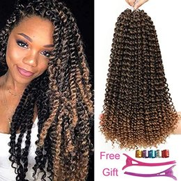 crochet braiding hair Australia - Passion Twist Hair Ombre Blonde Water Wave Crochet Braidst Crochet Braiding Passion Twist Braiding Hair (18inch, T27)