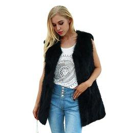 $enCountryForm.capitalKeyWord Australia - 2019 Fashion Women Winter Faux Fur Coat Solid Warm Slim Vest Plus Size Waistcoat Female Sleeveless Jacket Gilet Outerwear Black
