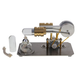 $enCountryForm.capitalKeyWord NZ - Freeshipping Hot Air Stirling Engine Motor Model Electricity Generator Metal Base Science Educational Toy Educational Model