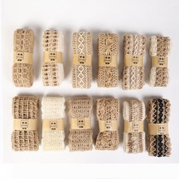 rope spools UK - B DIY Craft Vintage Natural Hessian Jute Twine Rope Wedding Party Burlap Ribbon Decor Home Spool Festival Scrapbooking