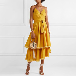 034e3f1efcc9 Tassel dresses online shopping - Tassel Patchwork Sleeveless Women Dress  Off Shoulder High Waste Bandage Asymmetrical