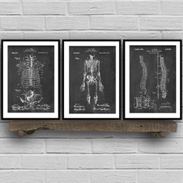vintage art canvas prints Australia - Human Anatomy Skeleton Wall Art Canvas Painting Vintage Posters and Prints Medical Student Education Gift Doctors Office Decor