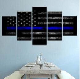 wall beds more 2019 - Wall Art Canvas Pictures 5 Panels Modern American Flag No Frame Painting Canvas Art Wall Picture For Bed Room Unframed c