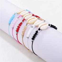 $enCountryForm.capitalKeyWord Australia - 6 style Fashion Hand Strap Bracelet Beach Holiday Handmade Shell Bracelet Women Beaded Bracelet to send girlfriend gifts