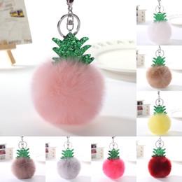 $enCountryForm.capitalKeyWord Australia - Free DHL Christmas Tree Pom Pom Key Chain Rabbit Fur Ball Keychains Car Key Ring Handbag Tote Bag Pendant Charm Xmas Gift 16 Styles D374Q F