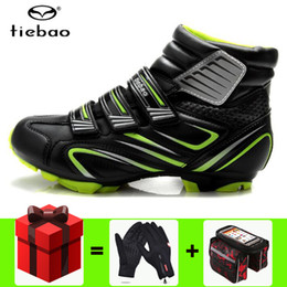 bicycles shoes NZ - TIEBAO Winter Cycling Shoes Men Sapatilha Ciclismo MTB Windproof mountain Bike Self-Locking Shoes Bicycle Ankle Boots zapatillas de ciclismo