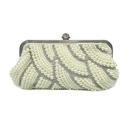 dc7fbdc803 2019 Pearl Beaded Women Bag Hot Fashion 3 Colors Women Pearl Evening Bags  With Diamond Elegant Wedding Party Clutches Ladies Bag