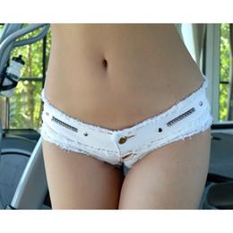 Zipper Erotic Australia - Tassel High Cut Booty Short Shorts Vintage Cute Bikini Double Button Low Rise Waist Micro MINI Short Jean Erotic Culb Wear FX35 #531335