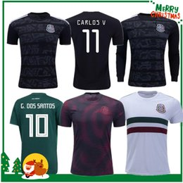 Chinese  Mexico 2019 H.LOZANO G.DOS SANTOS CHICHARITO futbol Soccer shirt 19 20 Mexico Gold Cup man woman kids kit Long sleeve sports football jersey manufacturers