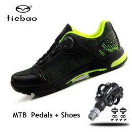 Cycle Pedals Australia - TIEBAO Cycling Shoes 2019 men women spd pedals Bicycle Professional Athletic Shoes Self-Locking Men MTB Leisure Bike