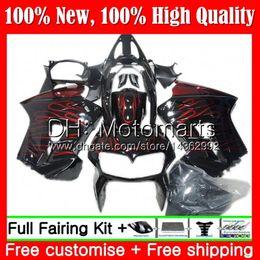 Vfr 98 Australia - Body For HONDA Interceptor VFR800R VFR800RR 98 99 00 01 68MT9 VFR800 VFR 800RR Red flames 800 RR 1998 1999 2000 2001 Hot Fairing Bodywork