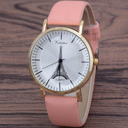 Watches eiffel toWer online shopping - New Watch Paris Eiffel Tower Women Lady Girl Faux Leather Quartz Wrist Watch Eiffel Tower Men Watch