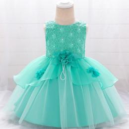 $enCountryForm.capitalKeyWord Australia - Infant Vestidos Baby Girl Clothes Baby Dress Butterfly Pearl Girl Wear Sleeveless Dress For Birthday Party Toddler Costume MX190719