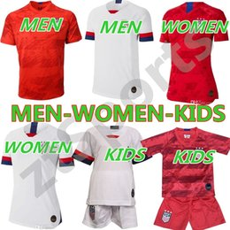 e4079e025 World Cup new 2019 Girls men kids kit copa America Soccer Jersey LLOYD  RIPINOE KRIEGER United States 19 20 PULISIC USA Football Shirt
