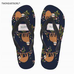 summer sandals new design 2019 - Twoheartsgirl Cute Sloth Casual Beach Flipflops Women Slipper Sandals New design Summer Home Flat Flip Flops Shoes for F