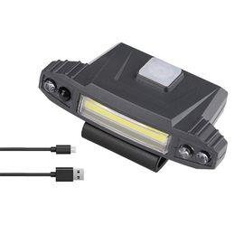 $enCountryForm.capitalKeyWord UK - COB LED Head Lamp Motion Sensor Cap Light 90 Degrees Rotatable Clip-On Hat Night Illumination Tool Battery-Operated For Fishing