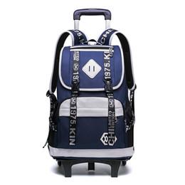 $enCountryForm.capitalKeyWord Canada - Children School Bags Trolley Backpacks Boys 2 6 Wheels Schoolbag Kids Luggage Bag grils Wheels Backpack travel Rolling Backpack