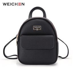 $enCountryForm.capitalKeyWord Australia - Weichen Brand Designer Fashion Mini Backpack Female Leather Women Backpack Multi-function Ladies Small Shoulder Bag High Quality MX190708
