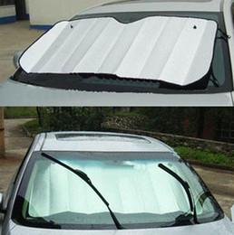 $enCountryForm.capitalKeyWord Australia - Window aluminum Foils Sun Shade Car Windshield Visor Cover Block Front Window Sunshade UV Protect Car Film 140*70cm