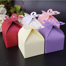 butterfly gift box for favors Australia - 100 Pcs DIY Wedding Candy Box Decoration Paper Favors Gifts Boxes Party hot sale Wedding Butterfly Candy Box For Baby Shower
