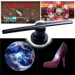 Diy Player Australia - LED 3D Holographic Projector Hologram Player Advisement Display Fan Lamp Advertising Display High Quality LED Fan for Bar Holiday Free DHL