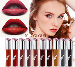 Lip Shapes Australia - KISS BEAR Heart - shaped lip gloss lip glaze European and American hot pink and beige gloss 10 color optional