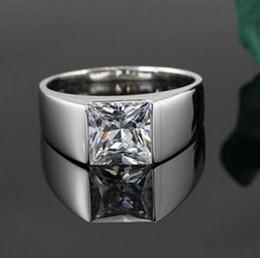 Princess cut gemstone rings online shopping - 2017 Lightyou999 Fashion jewelry high quality Men Princess Cut White Topaz Gemstones Silver filled Engagement Wedding Ring Size