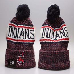 Горячие продажи бейсбольные индийцы зимние шапки шапочки для мужчин женщин Кливленд спортивные шапочки бренда вязаная шляпа высочайшее качество на Распродаже