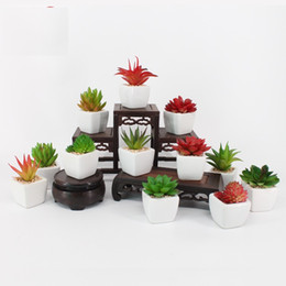 Artificial Potted Plants Australia - Artificial Potted Plant 12 Designs Portable Mini Simulation Succulents Cactus Lifelike Fake Flower Vase Garden Decor 1 Piece ePackt