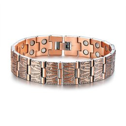 $enCountryForm.capitalKeyWord Australia - 15MM High Quality Retro Men's Magnets Bangle Copper Gemstone Bracelet Watchband Jewelry Gift for Men Boys J005