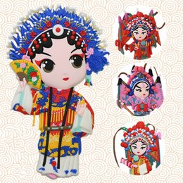 $enCountryForm.capitalKeyWord NZ - Peking Opera Face nice Gifts from China Chinese Style Magnets For Refrigerators For Refrigerator Magnets Fridge Magnet Souvenir