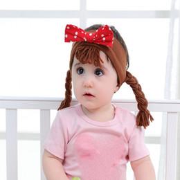 Korean baby girl headbands online shopping - 11 styles Ins Korean new children bow baby small scorpion dot bow hair band cotton girl headband hair accessories
