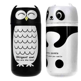 China 2019 New Water Bottle Cute Panda & Owl thermos 220ml Stainless Steel Vacuum Cup Cute Water Bottle Animals #Q16R cheap wholesale animal water bottles suppliers