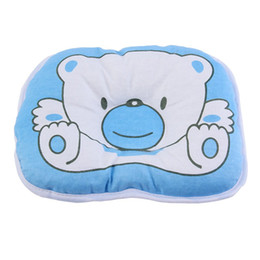 Chinese  Mambobaby Cartoon Cute Bear Soft Pillow Newborn Infant Baby Support Cushion Pad Prevent Flat Head manufacturers