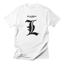 $enCountryForm.capitalKeyWord Australia - good quality Death Note L White T Shirt Men Cotton Anime Casual Fashion High Qualityround Neck Tshirts Mens Short Sleeve