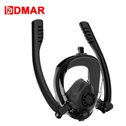 $enCountryForm.capitalKeyWord Australia - Full Face Snorkel Black Mask Anti-Fogging Scuba Diving Mask with Double Tube Snorkeling Gear Ideal for Men Women Youth Swimming