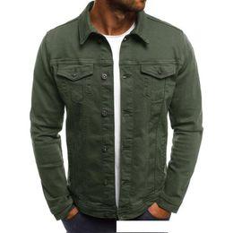 $enCountryForm.capitalKeyWord Australia - 2019 Mens Designer Jacket New Casual Mens Denim Jacket Slim Work Solid Color Coat Fashion Mens High Quality Jacket