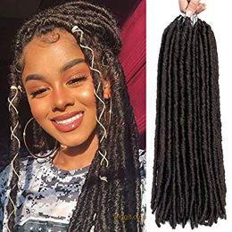 $enCountryForm.capitalKeyWord Australia - 18inch Goddess Faux Locs Crochet Hair Straight Goddess Locs Synthetic Hair Crochet Braids Bomba Dreadlocks Faux Locs Soul Hair Extensions
