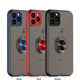 Capinha para celular Iphone 11 Pro Max com anel magnético Capas de silicone Iphone X XR XS MAX 6 6S PLUS 7/8 Apple em Promoção