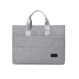 notebook portable UK - Fashional Business Briefcase Men Handbag Portable Nylon Travel Notebook Computer Laptop Bag