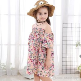 $enCountryForm.capitalKeyWord Australia - New Girls Longuette cotton Broken flowers Dress Dresses Girl Prom Dresses Summer Princess Dress best quality 4-20 lw41