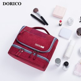 Hand Hooked Bag Australia - DORICO Travel Cabin Gargle Bag Carry On Luggage Waterproof And Mildew Proof Dry And Wet Separation Hook Travel Bags Hand Luggage