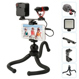 boya microphone Australia - BOYA BY-MM1 Microphone With Cold Shoe Extension Video light Octopus Tripod Phone Mount For iPhone For Filmmaking Vlogging