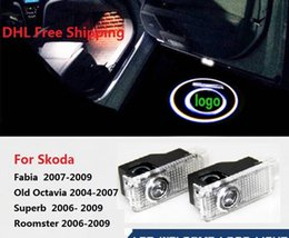 $enCountryForm.capitalKeyWord Australia - For SKODA Superb Fabia 09 Octavia 04-07 Roomster 2006-2009 No Drilling LED Ghost Shadow Projector Laser Courtesy Logo Light DHL FREE ship
