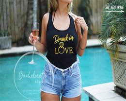 Wholesale Bachelorette Party Just Drunk Drunk in Love Shirt Tanks Bridal Party Tank Bridesmaid Gift Wedding Tops Swimwear Women