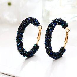 big hoop rhinestone earring Australia - Crystal Hoop Earrings for Women 2018 New Round Rhinestone Big Earring Female Fashion Charm Pendientes Jewelry For Female