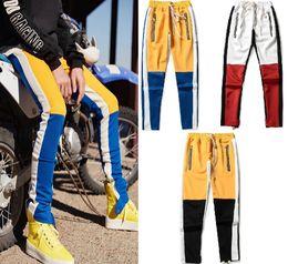 Pants Sports Wear Cotton NZ - Mens Pant Skinny Pants Fashion Tide Men Pants Zipper High Street Wear Outdoor Sport Cotton Blend Pencil Pants Drawstring Couple Pant