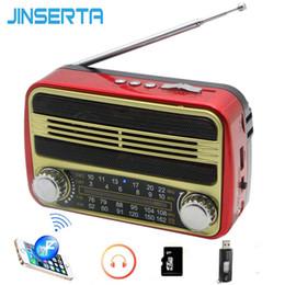$enCountryForm.capitalKeyWord NZ - Cheap Radio JINSERTA FM AM SW Radio Receiver Mini Retro Speaker BT MP3 Player Support U Disk TF Card Play with USB Cable Headphone Jack