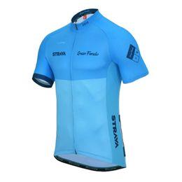 China Cycling Pro Team STRAVA Cycling jersey Bicycle wear men bicicleta maillot sports uniform mtb bike shirts Road Bicycle clothing Y051320 supplier black white road bike jersey suppliers
